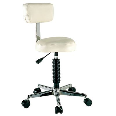 Picture of BEAUTY STOOL WITH BACK - BLACK - SH-7085 M